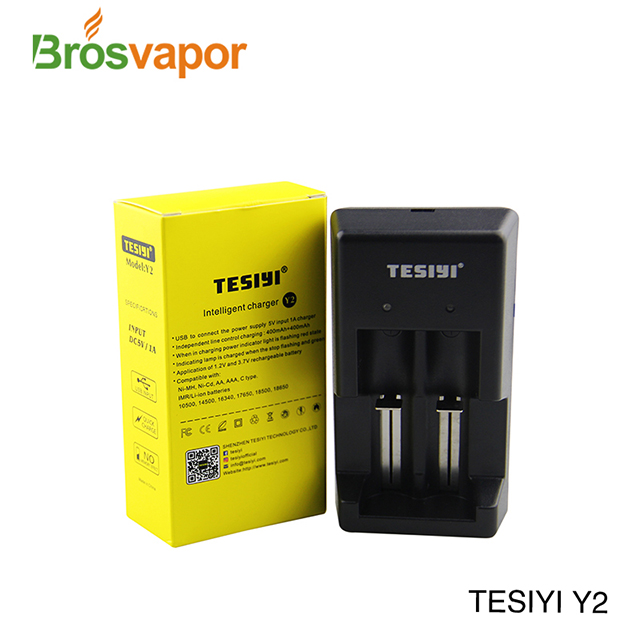 Tesiyi Y2 Charger with USB Charger for Vape Battery