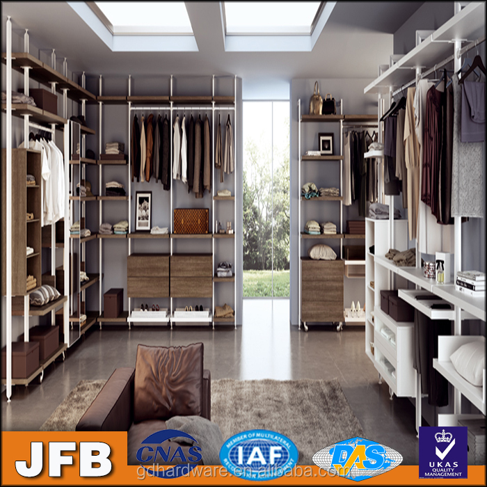 Fittings walk in wardrobes closets cloakroom modular italy design clothes shop aluminum walk in wardrobe