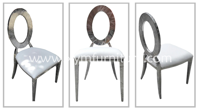 European stype high grade stainless steel tube frame chair