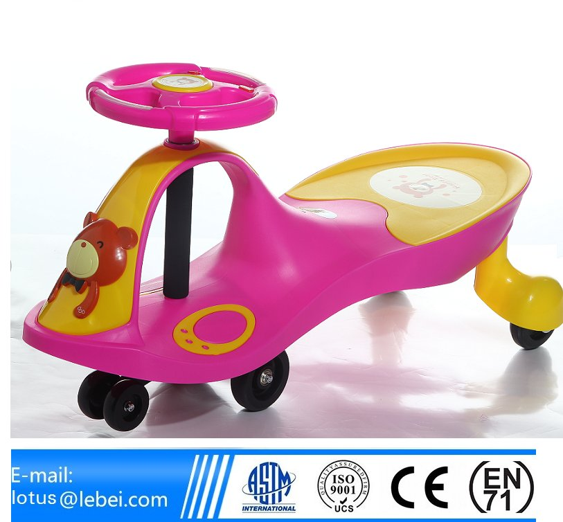 Kids PP and Iron material playing and assembling kids swing car
