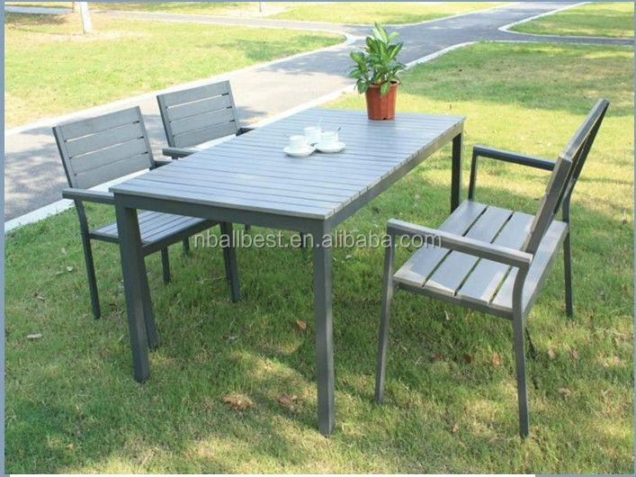 Wholesale Plastic Wood Outdoor Furniture Set Teak