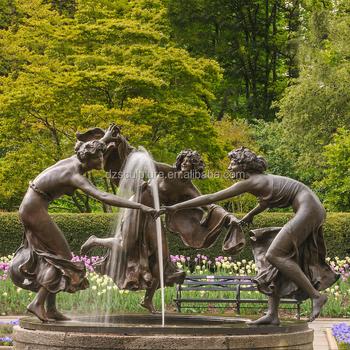 Digunakan Taman Air Mancur Patung Perunggu Menari Perempuan Buy