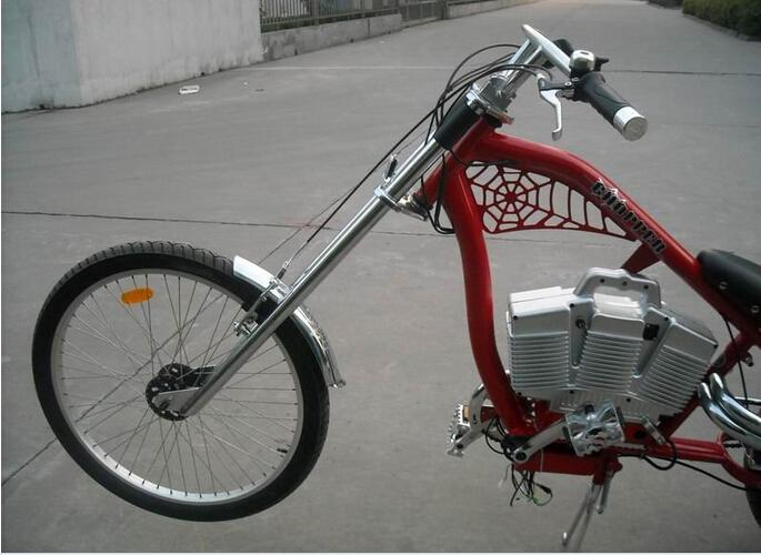 36v 500w Brushless Hi Speed Harley Electric Chopper Bike