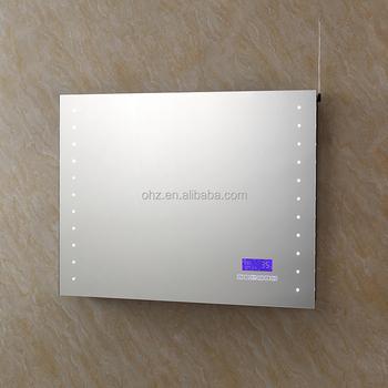 Nouveau Design Salle De Bain Intelligente Led Miroir Avec Bluetooth Radio  Et Horloge Sm-001 - Buy Led Miroir Design,Miroir Bluetooth,Miroir ...