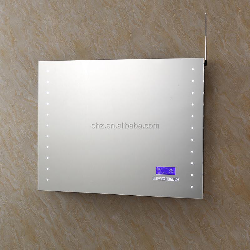 Nouveau Design Salle De Bains Chic Led Miroir Avec Bluetooth Radio Et Horloge Sm 001 Mirroir De
