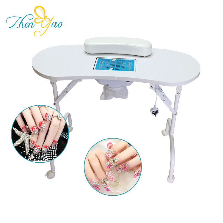 Beauty Nail Salon Furniture Folding Portable Manicure Table With ...