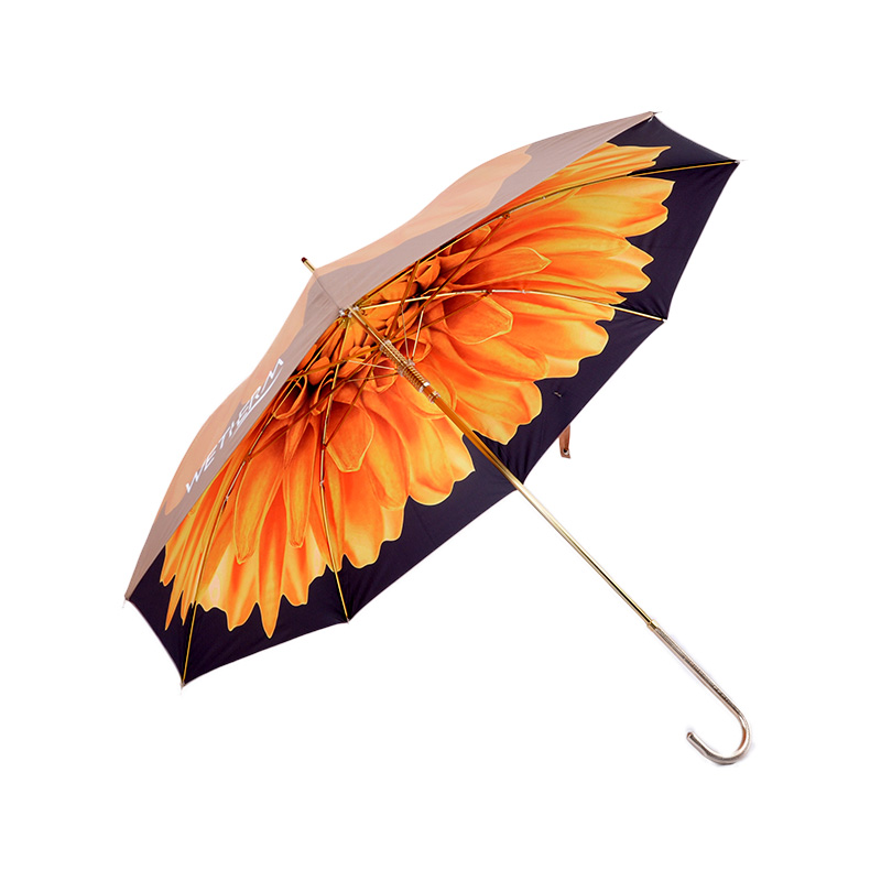 LV-05 Luxury custom uv protection folding 3d printed umbrella