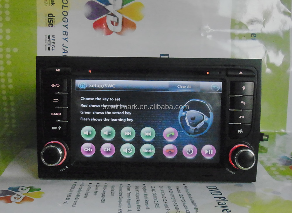 7inch double din car dvd gps navigation system for audi a4 s4 8e 8f