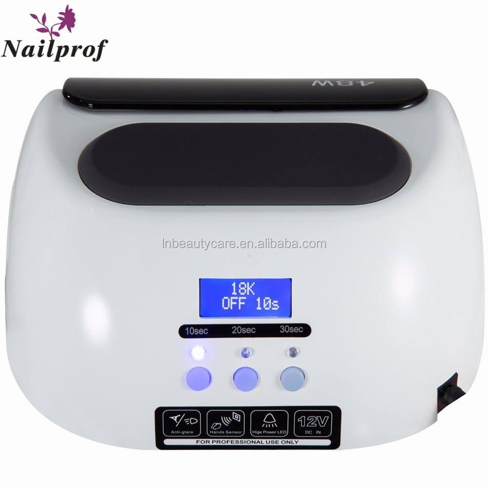 NAILPROF OEM Cheapest LCD Touch 18K Nail LED CCFL Mixed Gel UV LED Polish Light for Manicure