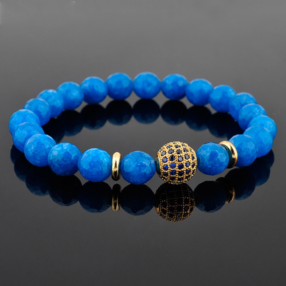 2019 New Arrivals Women Jewelry Blue Turquoise Bead Anxiety Bracelet