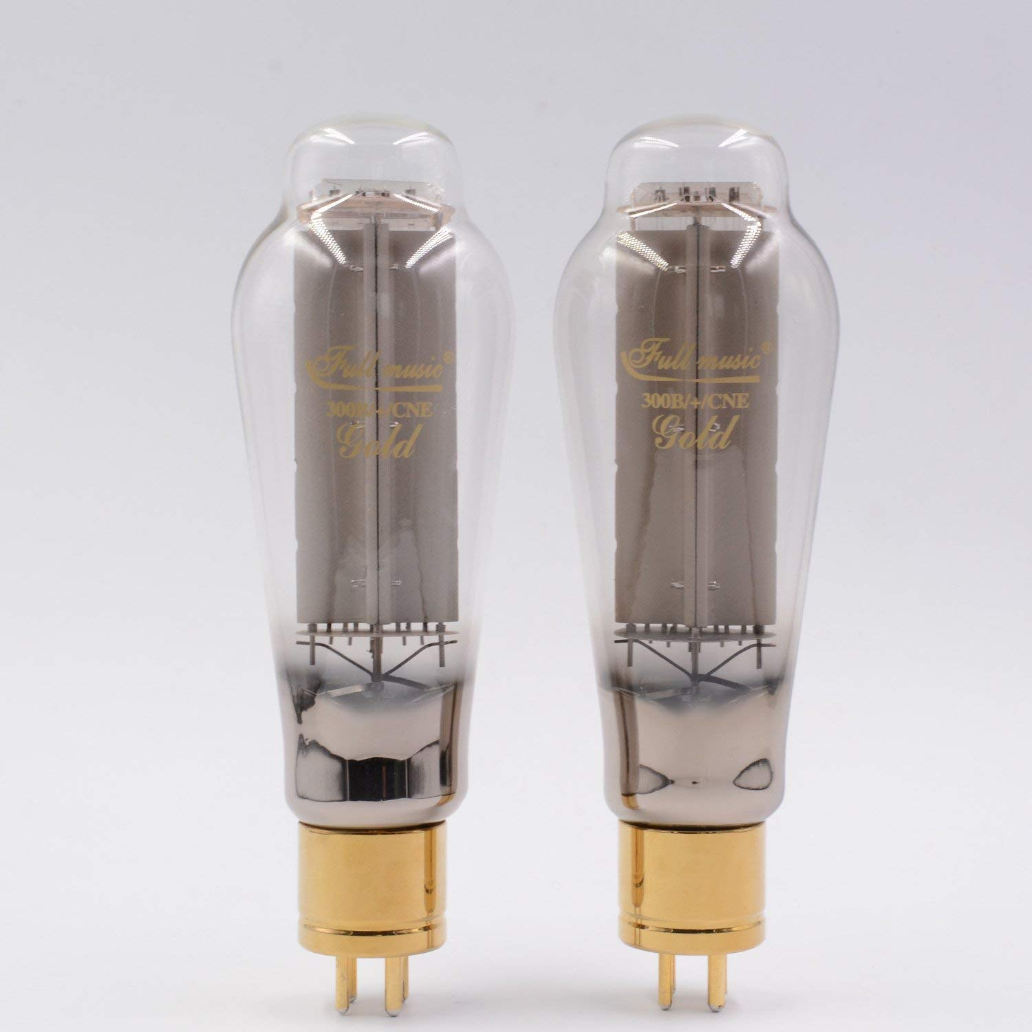 1PAIR TJ FULLMUSIC 300B/+/CNE GOLD Vintage Vacuum Tube Factory matched pair