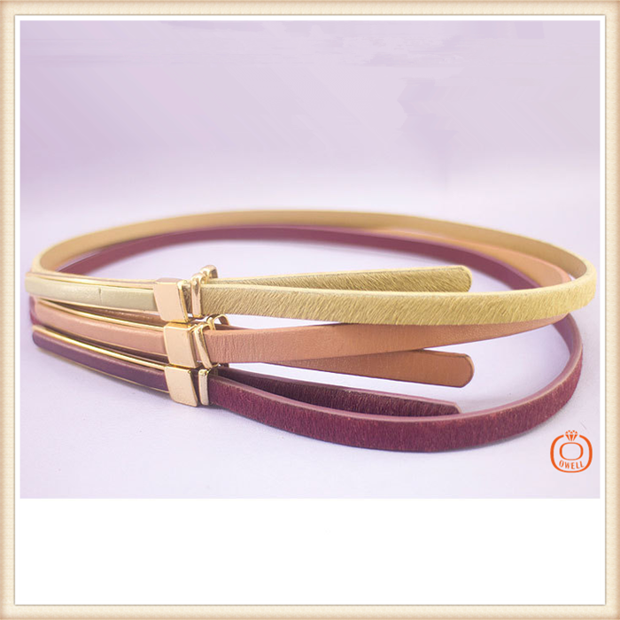 2015 New Factory Wholesale Fashion Lady Women Dress Belt Real Leather Belts 3 Colors