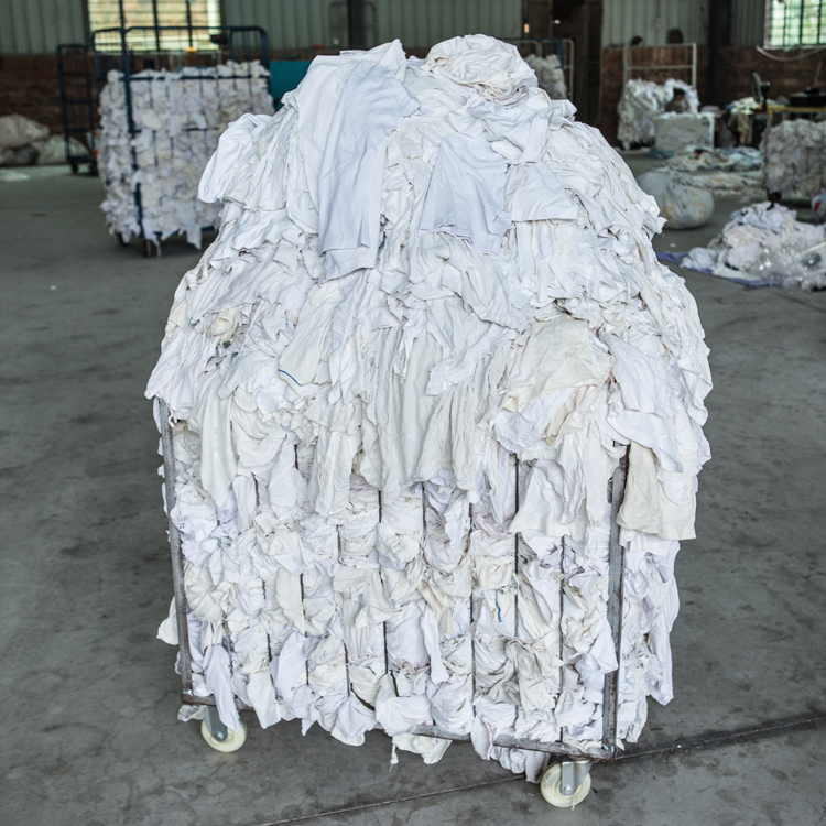 Industrial Trapo Waste 100 Cotton White Used Cloth T-Shirt Rags And Wipers