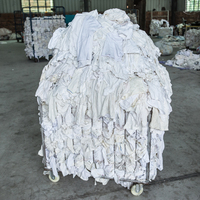 Wholesale 100% Cotton White Used T-shirt Rags and Wipers