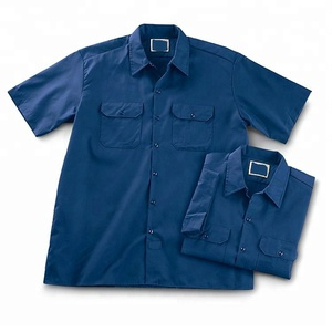 Custom man work t shirts workwear Men's industrial short sleeve work shirt