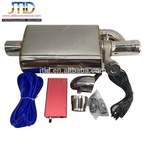 TOP Quality car muffler with remote control valve system car Exhaust Muffler