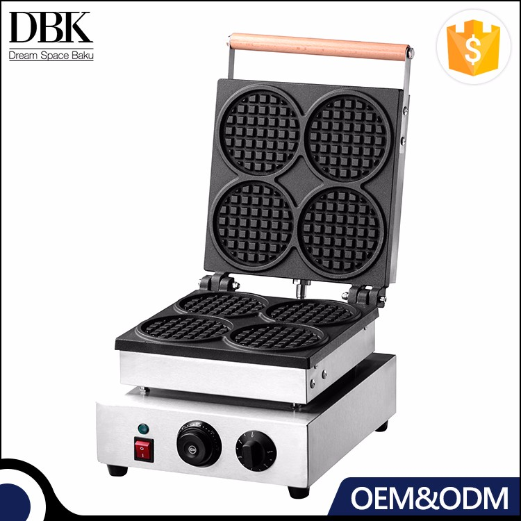 DBK New Product Commercial Cast Iron Thick Waffle Maker For Hotel Equipment