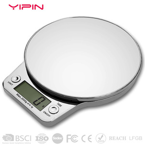 Manual electronic kitchen scale for food weighing digital 3kg 5kg