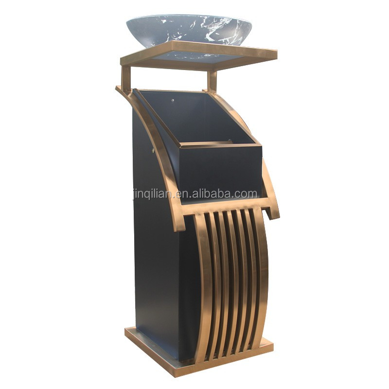stainless steel recycle bin JQL-XG001 luxury trash can and high grade bin