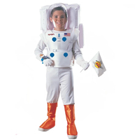 astronaut white suit kids costume uniform hero costume halloween&carnival career costume for child