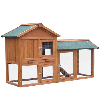 Outdoor Guinea Pig Pet House Rabbit Hutch Habitat With Run