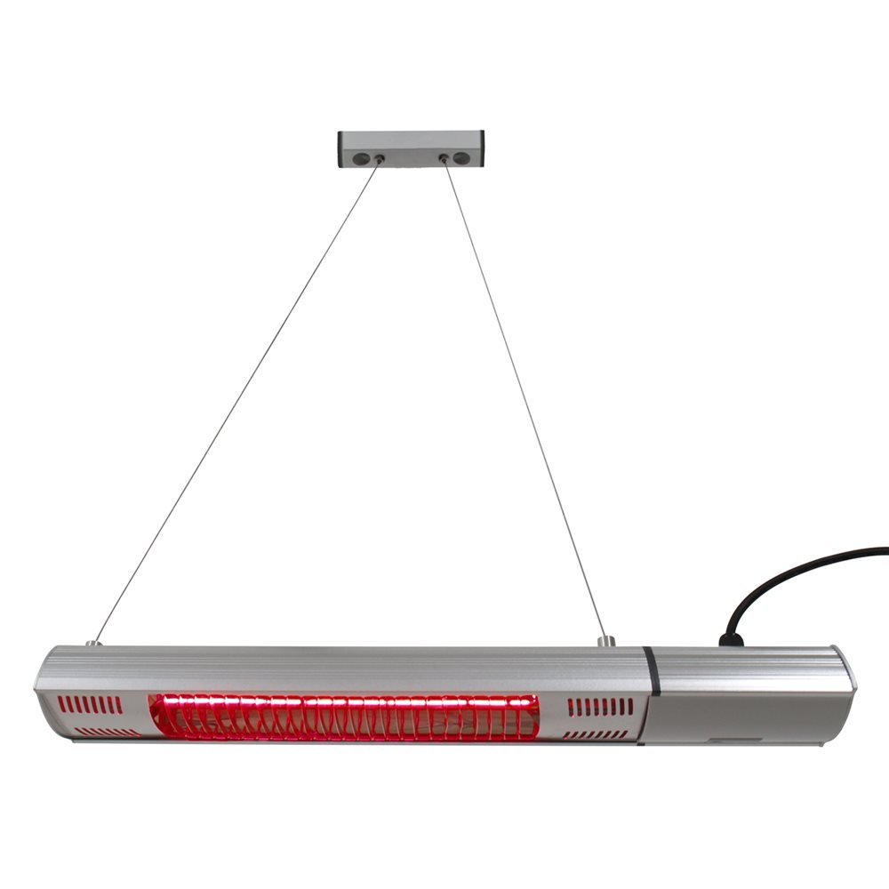 Ener-G+ HEA-21545 Outdoor Ceiling or Wall Mounted Electric Patio Heater/Infrared Heater, 1500W