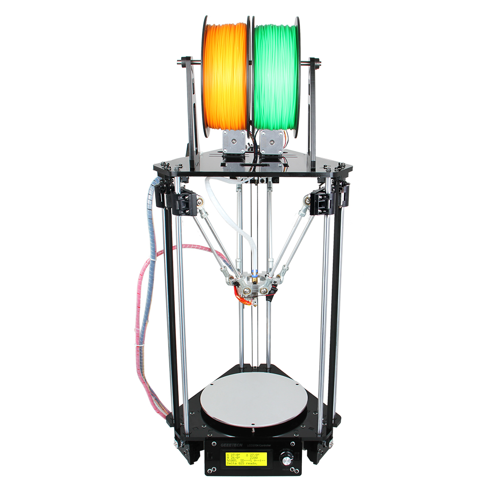 geeetech impresora 3d Kossel delta FDM diy rostock kit 3d printer with LCD display