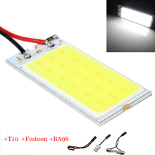 2X Große Förderung T10 36 SMD COB LED-Panel Super White Auto Auto Dome-innenleselampe Karte Lampe Licht Dome Festoon BA9S 3 Adapter