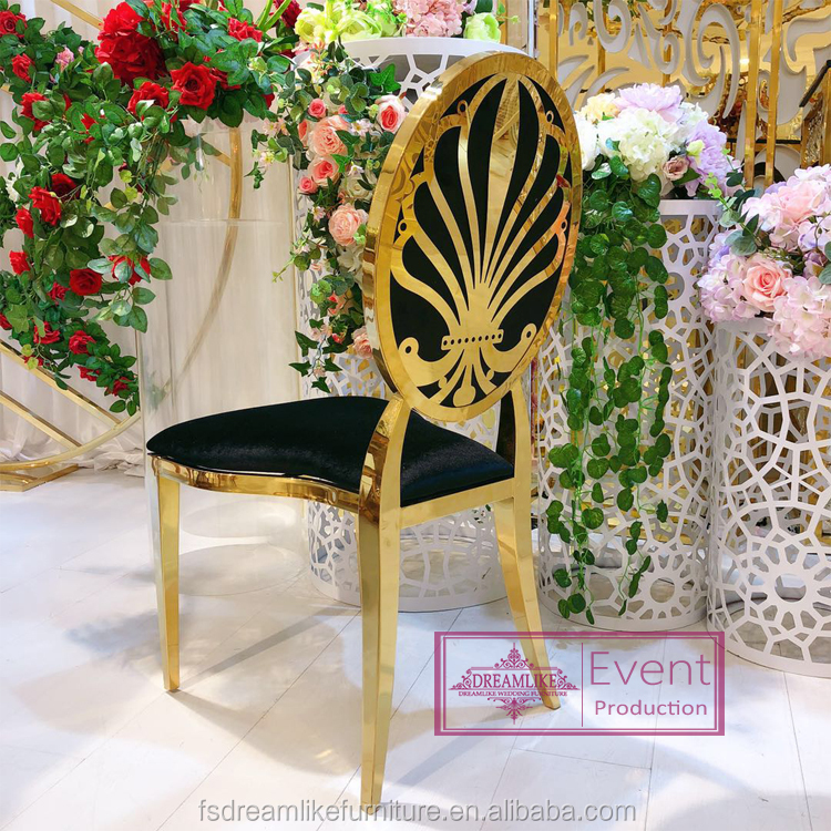 new oval back stainless steel frame pu leather wedding event design chair