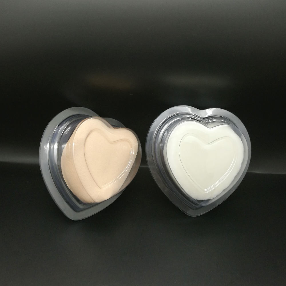 Eco friendly heart shape clear plastic soap packaging blister boxes manufacturer and exporter