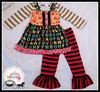 yawoo turkey wholesale children clothes alphabet 3pcs mustard pie outfits strap dress toddler girls boutique clothing sets