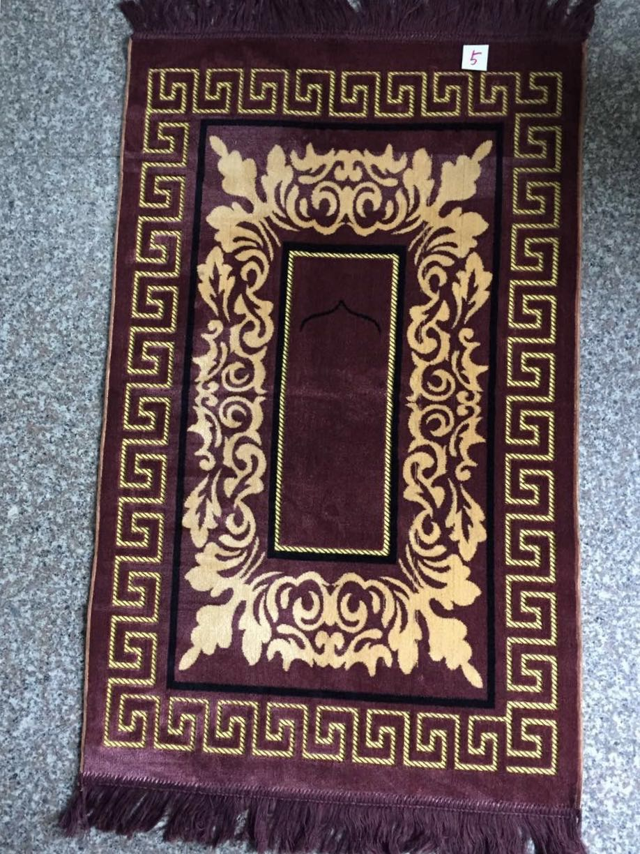 2018 classic design adult turkish style good quality thin prayer rugs