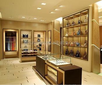875068b4e7 Europe Wood Grain Luxury Handbag Shop Fittings Display Showcase   Cabinet