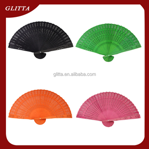 Glitta wholesale wood Craft Hand Fan,Wedding Favors Sandalwood Wedding Invitation fans,bamboo folding fan WF004