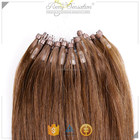 Indian Remy Double Drawn Medium Chestnut Brown micro ring hair extensions