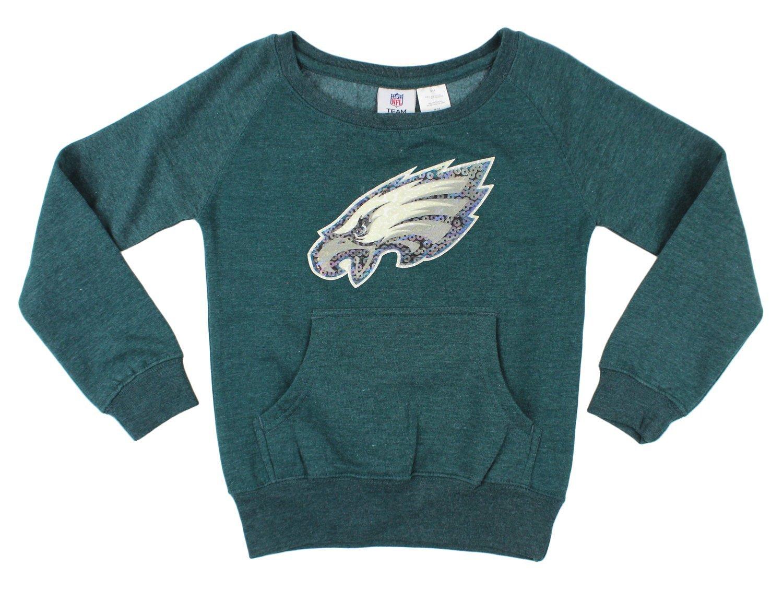 Get Quotations · Philadelphia Eagles NFL Big Girls Large Patch Fleece  Sweatshirt 409587fe8