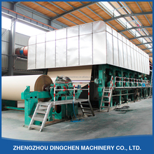 2400mm 30TPD waste carton recycle paper pulp making machine for recycling paper