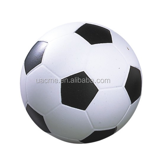 pu promotional football shaped reliever anti stress soccer stress ball