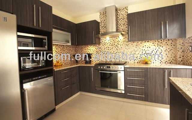 De alta calidad de estilo moderno de pvc gabinetes de la for Gabinetes de cocina modernos