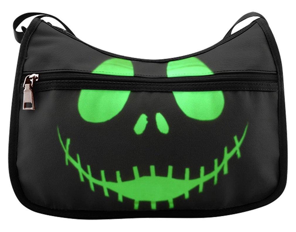 fe7fce6fa721 Get Quotations · Simple Classic Everyday Hobo Handbag Female Women Shoulder  Hobo Bag The Nightmare Before Christmas Skulls Face