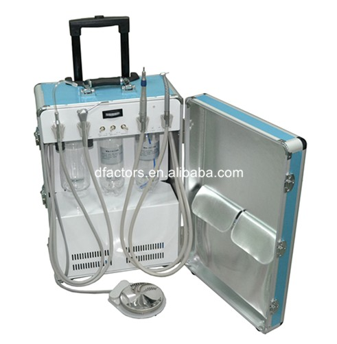portable dental unit with 3 way-syring oilless air compressor motor for sale