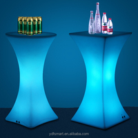 China Factory Wholesale Modern Cool color luminous led light up Night club Furniture table chairs