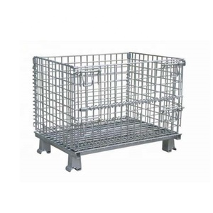 Cheap Foldable Wire Mesh Pallet Container / Mesh Cage/Storage Cage