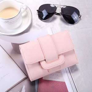 Wholesale Women PU Leather Small Wallet Card Holder Zipper Coin Purses Clutch Fashion Women Clutch Purses Wallet