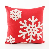 2019 new design snow flowers Merry Christmas series decoration cotton linen pillow for decorate office car outdoor