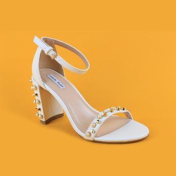 Ladies Fashion White High Heel Sandals