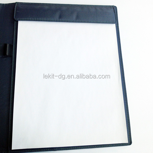 Hot Sale a4 leather conference folder with notepad