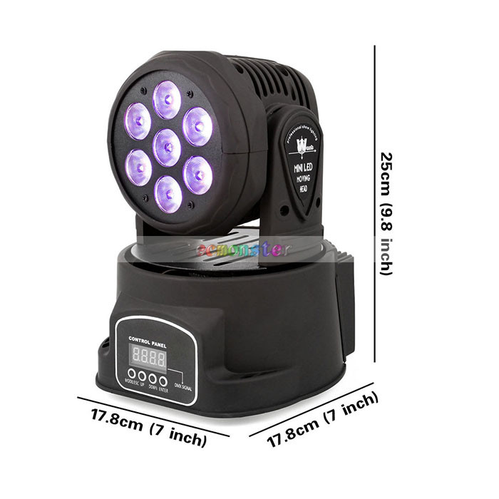 Cheap 100W 7-LED RGBW Auto Sound Controlled laser stage lighting
