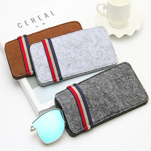 Premium OEM felt cloth sunglasses case for store