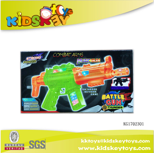 Wholesale child color flashing gun light up toy gun
